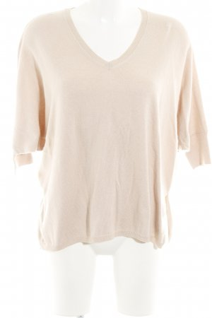 Set V-Ausschnitt-Pullover creme Casual-Look