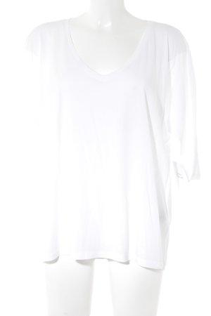 Set V-Ausschnitt-Shirt weiß Casual-Look