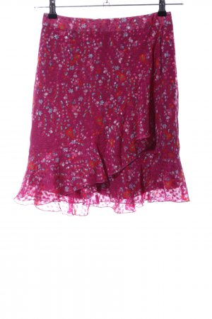 Set Flounce Skirt allover print casual look