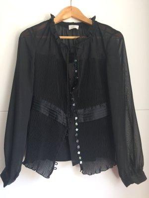 ae elegance Zijden blouse zwart