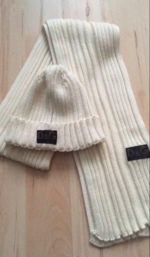 Dolce & Gabbana Cappello a maglia bianco sporco-crema