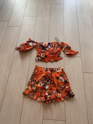 H&M Blusa tipo Carmen naranja-naranja neón