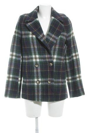 Set Giacca di lana verde scuro motivo a quadri stile casual