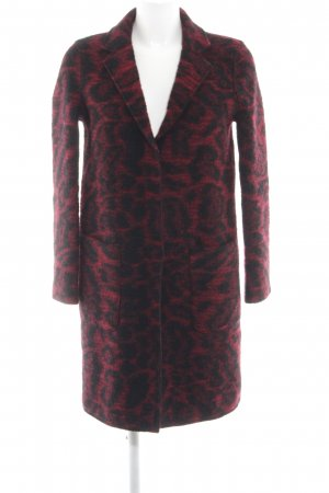 Set Wool Coat black-red abstract pattern business style