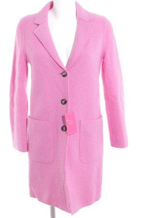 Set Wollmantel pink schlichter Stil