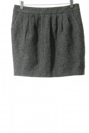 Set Gonna di lana grigio chiaro-nero puntinato stile casual