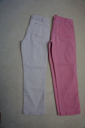 Apriori Capris cream-pink mixture fibre