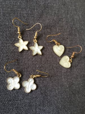 Setpreis 3 Paar Ohrringe Ohrhänger Stern Klee Herz Modeschmuck