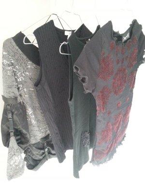 Setpreis 4 schwarze Shirts alle neuwertig in Gr. 34/XS Mango, H&M