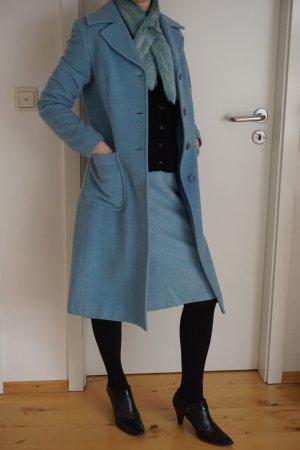 Setpreis hellblau Mantel mit Rock, Schal und Handschuhen Sisley, Benetton Gr. 34