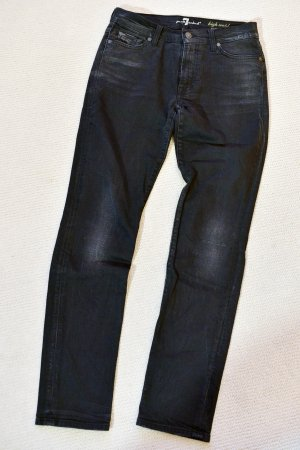 Seven 7 FOR ALL MANKIND 29 schwarz Roxanne Stretch High Waist Röhre Skinny