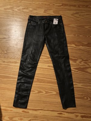 7 For All Mankind Jeans skinny noir-argenté