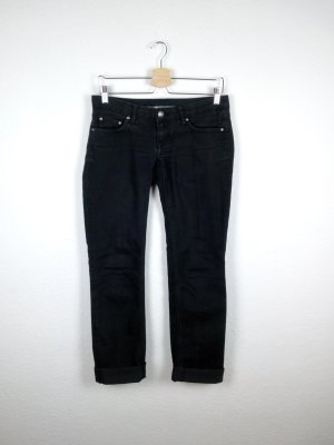 seven 7 jeans hose S 36 damenmode schwarz cool fashion blogger