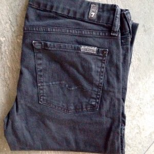 7 For All Mankind Stretch Jeans black-anthracite denim