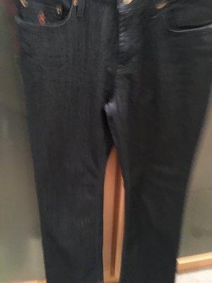 Seven7 Pantalone Marlene blu scuro Tessuto misto