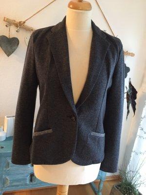 Jersey blazer antraciet