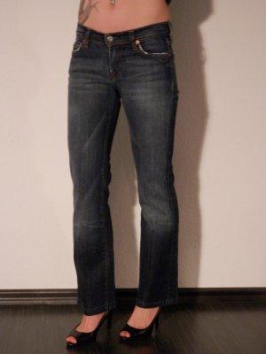 Jeans bootcut bleu foncé jean
