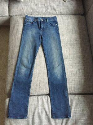 Seven7 Jeans met rechte pijpen blauw