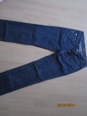 7 For All Mankind Pantalone cinque tasche blu scuro Cotone