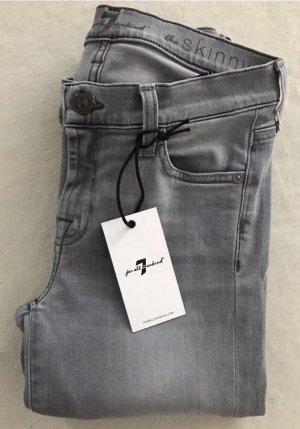 SEVEN FOR ALL MANKIND Jeans The Skinny Slim Illusion Grau / W25 / 34
