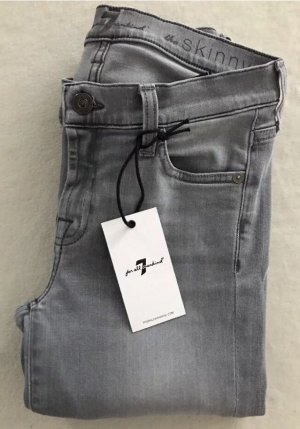 SEVEN FOR ALL MANKIND Jeans The Skinny Slim Illusion Grau / W25 / 34