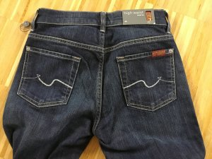 7 For All Mankind Moda azul acero Algodón