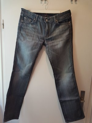 7 For All Mankind Vaquero gris-gris oscuro