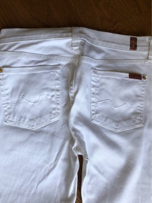 7 For All Mankind Boot Cut spijkerbroek wit