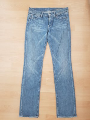 7 For All Mankind Straight Leg Jeans azure cotton