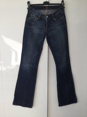Seven-Jeans Bootcut dunkelblau