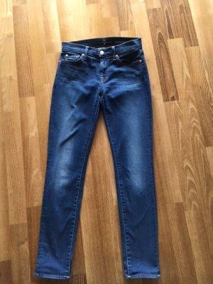 Seven7 Pantalón de tubo azul oscuro