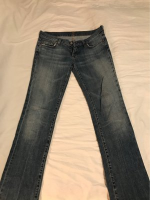 7 For All Mankind Jeans vita bassa blu
