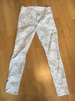 Seven-Jeans mit floralem Muster