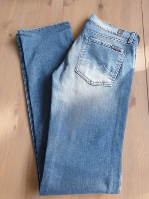 7 For All Mankind Jeans coupe-droite bleu azur