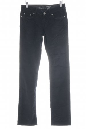 Seven7 Corduroy Trousers black casual look