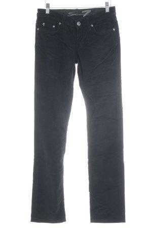 Seven7 Pantalone di velluto a coste nero stile casual