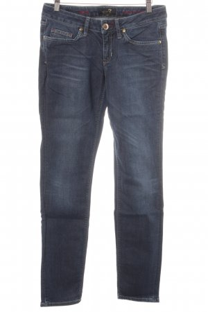 Seven7 Low Rise Jeans steel blue casual look