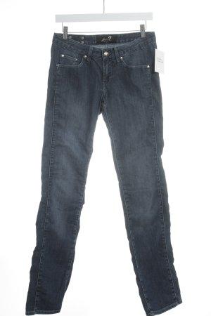 Seven7 Jeans met rechte pijpen donkerblauw casual uitstraling