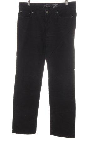 Seven7 Jeans met rechte pijpen zwart simpele stijl