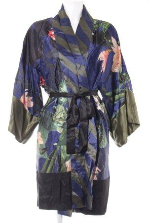 Seventy Kimono estampado floral estilo extravagante