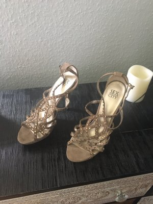Sex and the City Sandalen met bandjes bruin-goud