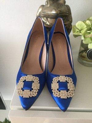 Escarpins bleu-argenté