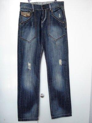 Tube jeans azuur Katoen