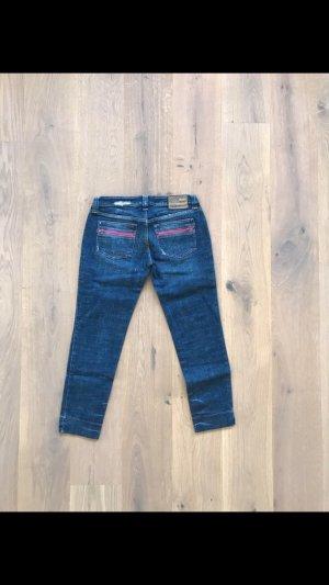 Nolita Jeans a 7/8 blu scuro-rosa