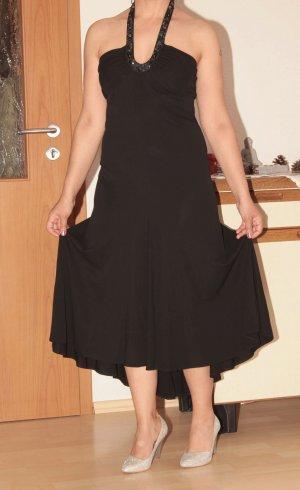 Sexy Abendkleid Ballkleid Schwarz mit Steinen