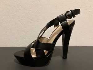 Platform Sandals black imitation leather
