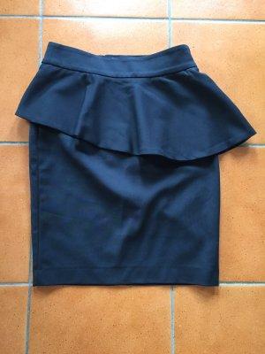 Zara Woman Jupe asymétrique noir viscose