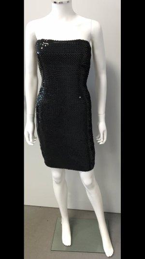 Sexy Bandeau Kleid mit Pailetten