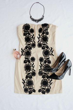 Sexy Bandeau Kleid mit Spitze