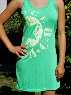 Venice beach Beach Dress neon green-pale green polyester